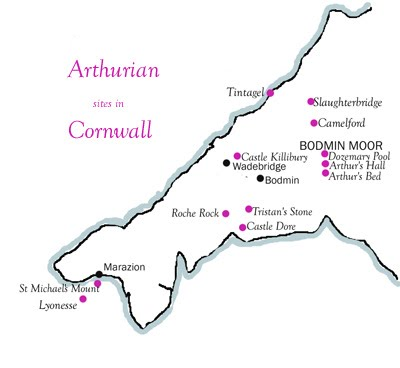 Map Of England King Arthur.King Arthur In Cornwall